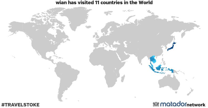 wian's Travel Map