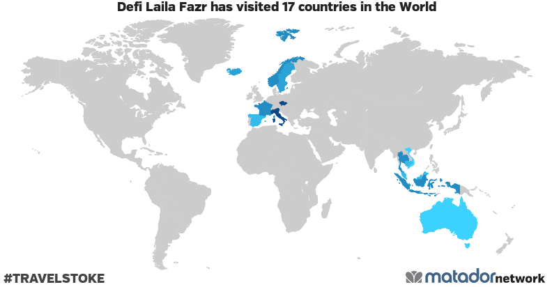 Defi Laila Fazr's Travel Map