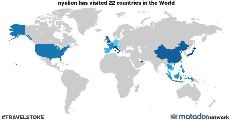 nyalion's Travel Map