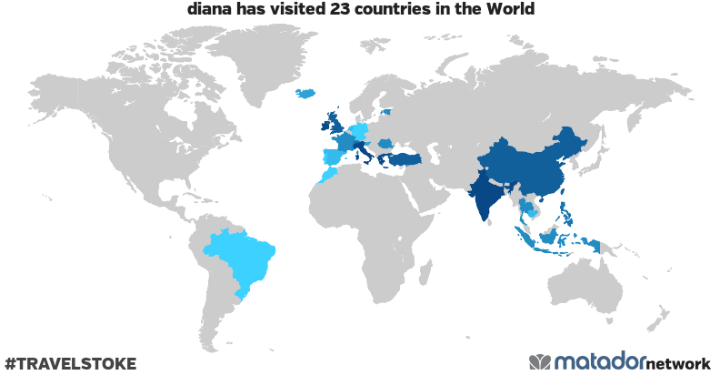 diana's Travel Map