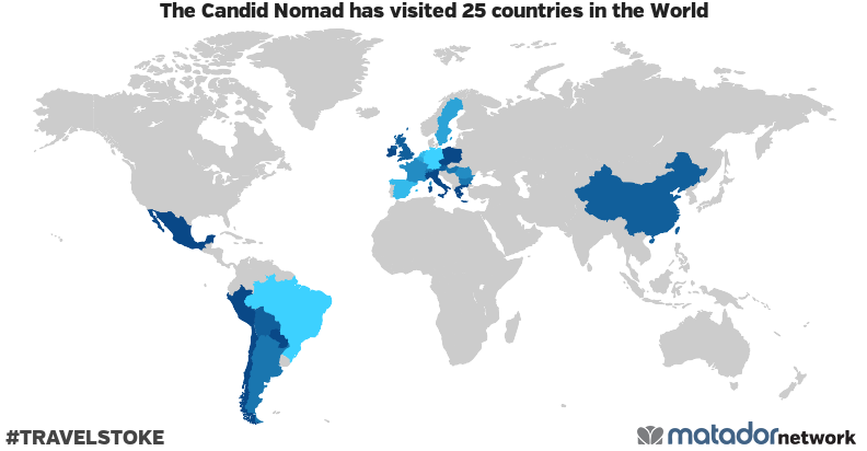 The Candid Nomad's Travel Map