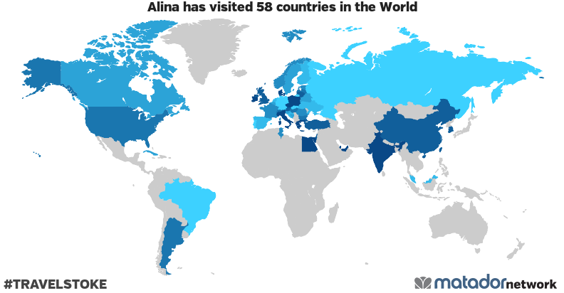 Alina's Travel Map