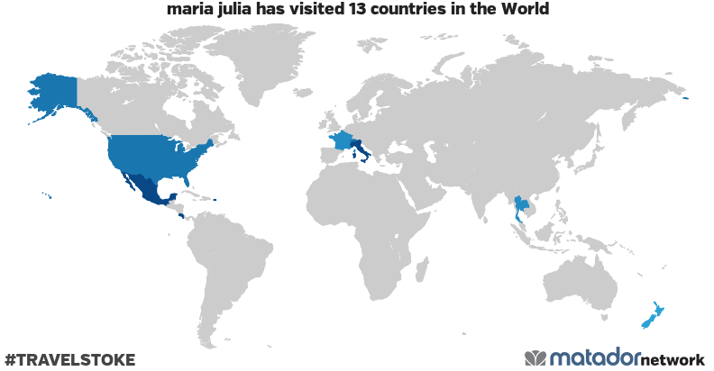 maria julia's Travel Map