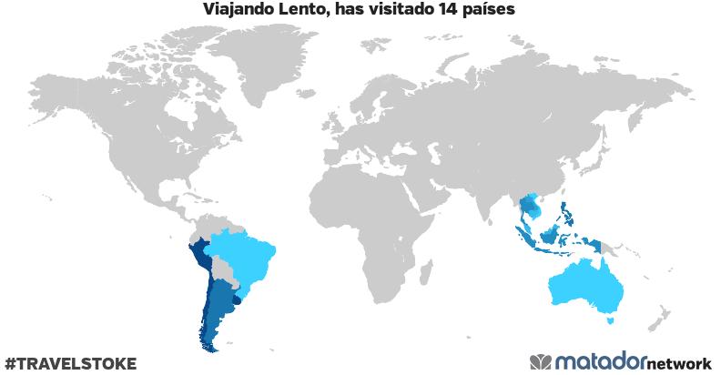 El mapamundi de Viajando Lento