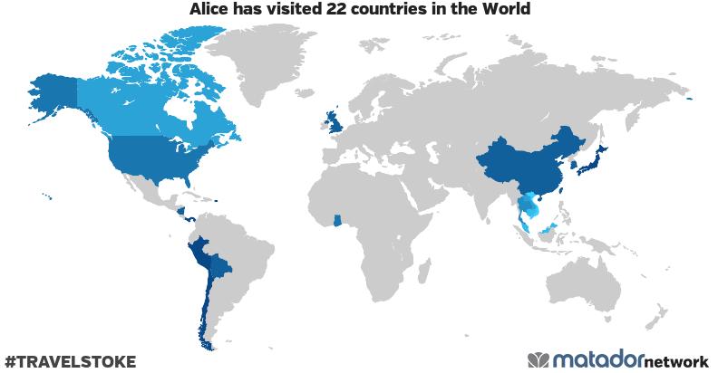 Alice's Travel Map