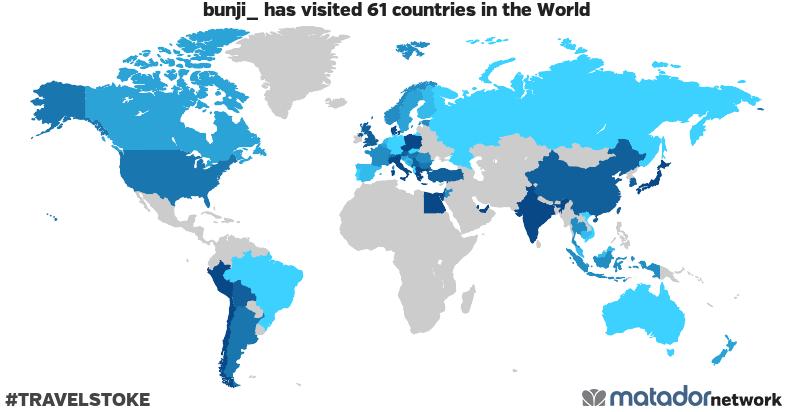 bunji_'s Travel Map