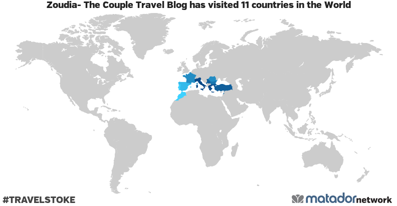 Zoudia- The Couple Travel Blog's Travel Map
