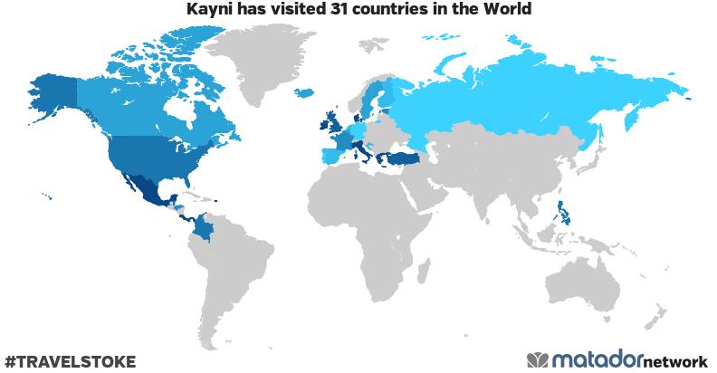 Kayni's Travel Map