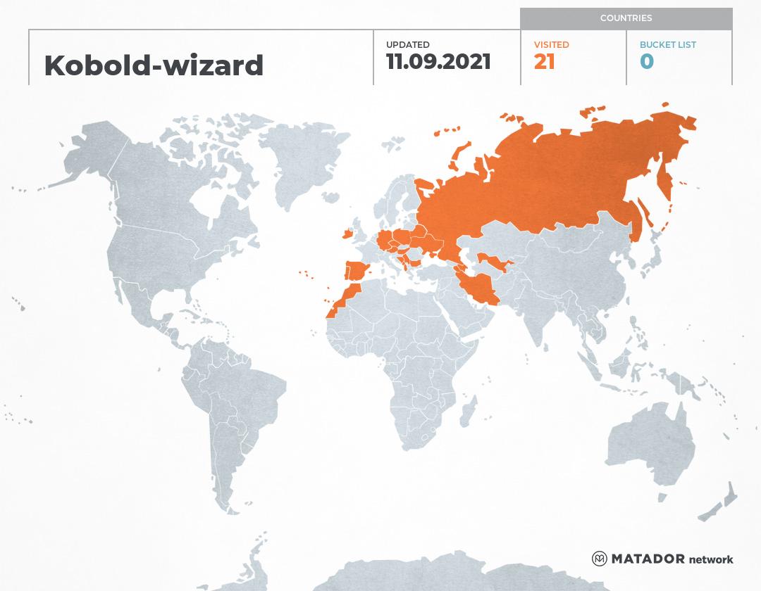 Kobold-wizard's Travel Map