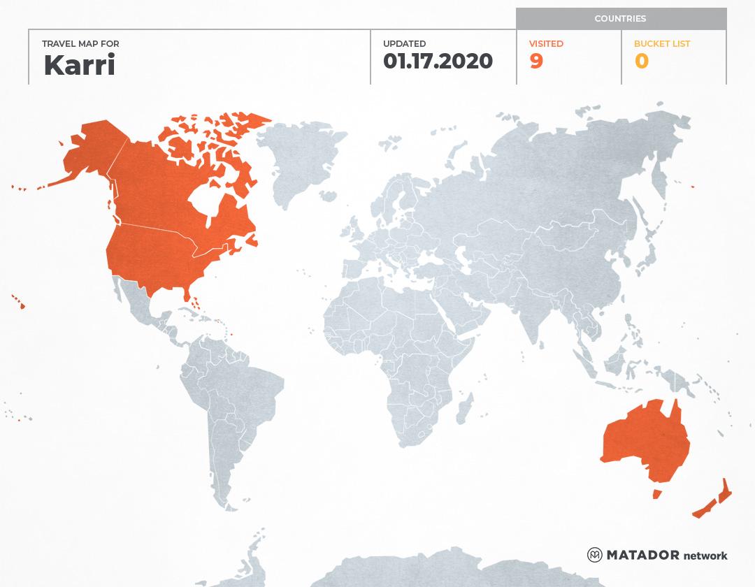 Karri\'s Travel Map - Matador Network