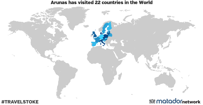 Arunas's Travel Map
