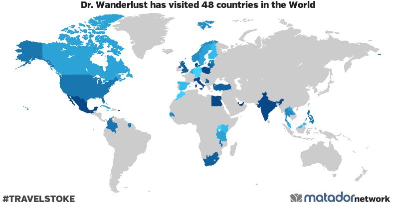 Dr. Wanderlust's Travel Map
