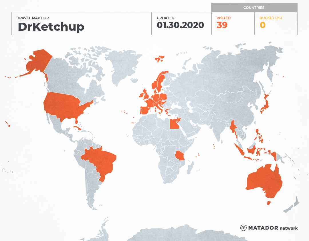 DrKetchup's Travel Map