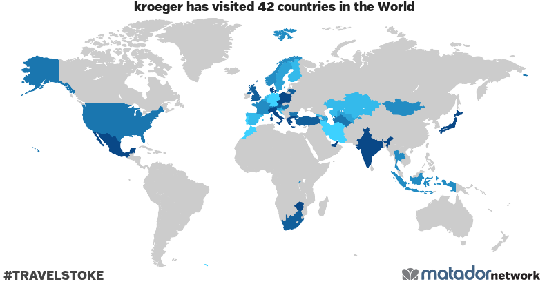 kroeger's Travel Map