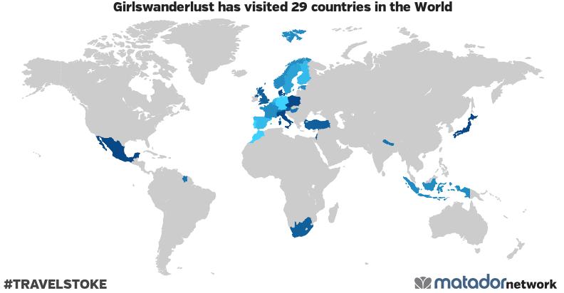 Girlswanderlust's Travel Map