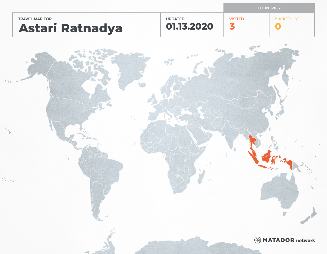 Astari Ratnadya's Travel Map