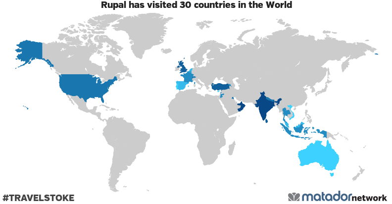 Rupal's Travel Map