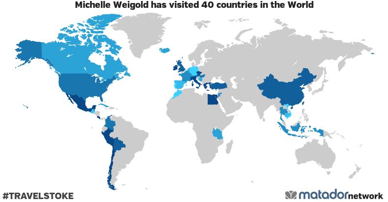 Michelle Weigold's Travel Map