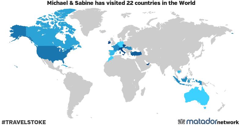 Michael & Sabine's Travel Map