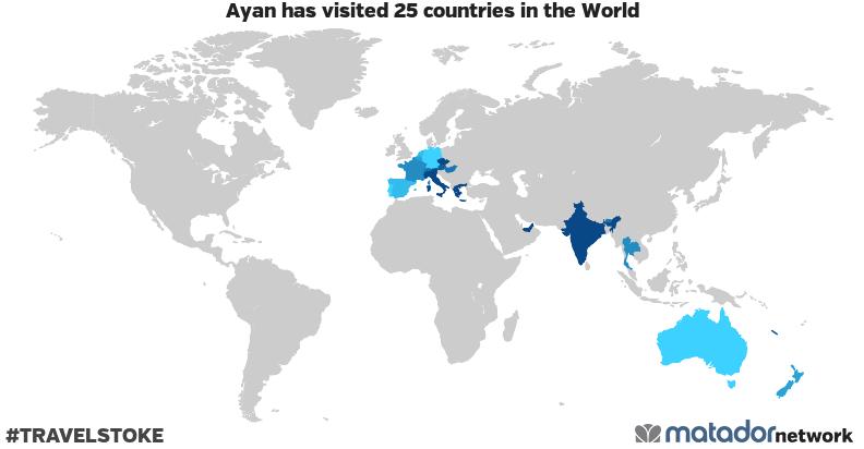 Ayan's Travel Map