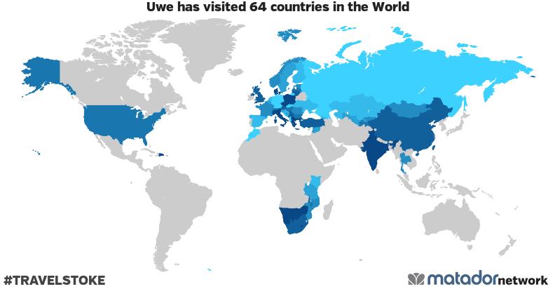 Uwe's Travel Map