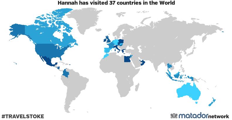 Hannah's Travel Map