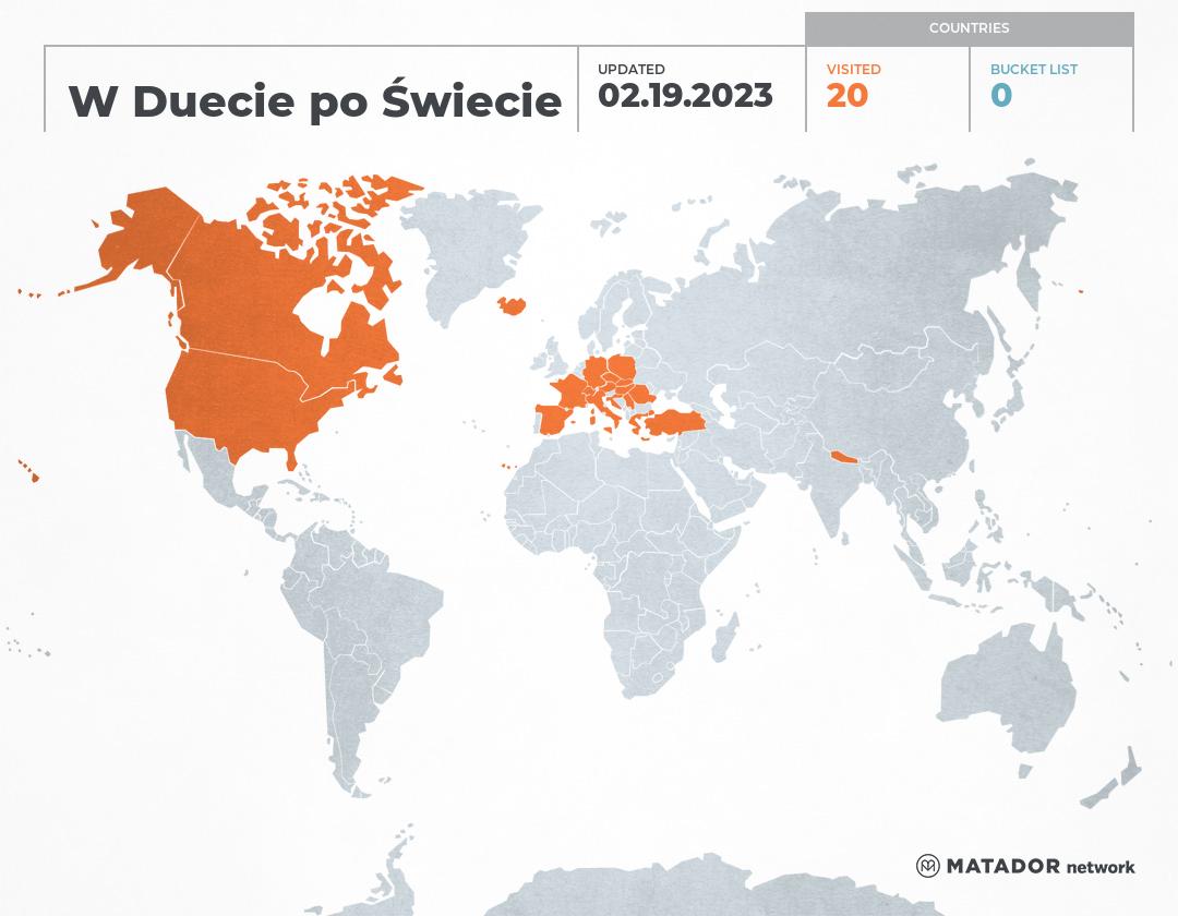 W Duecie po Świecie's Travel Map