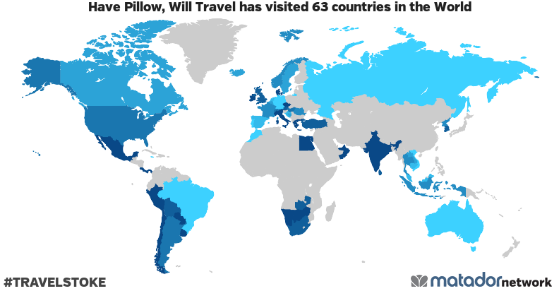 Have Pillow, Will Travel's Travel Map