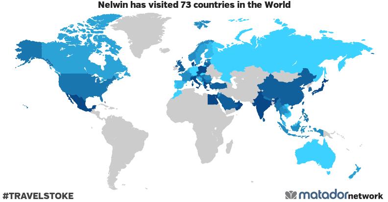 Nelwin's Travel Map