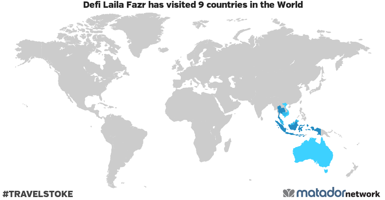 Defi Laila Fazr's Travel Map