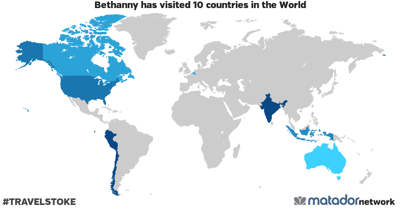 Bethanny's Travel Map