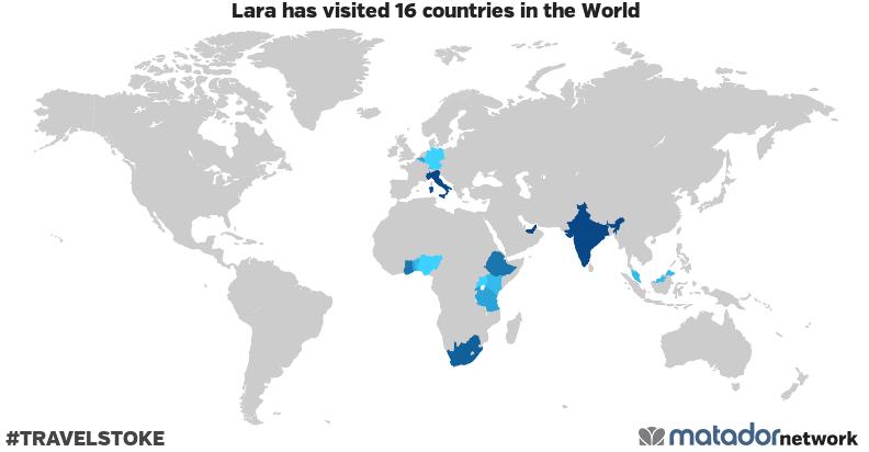 Lara's Travel Map