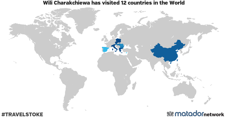 Wili Charakchiewa's Travel Map