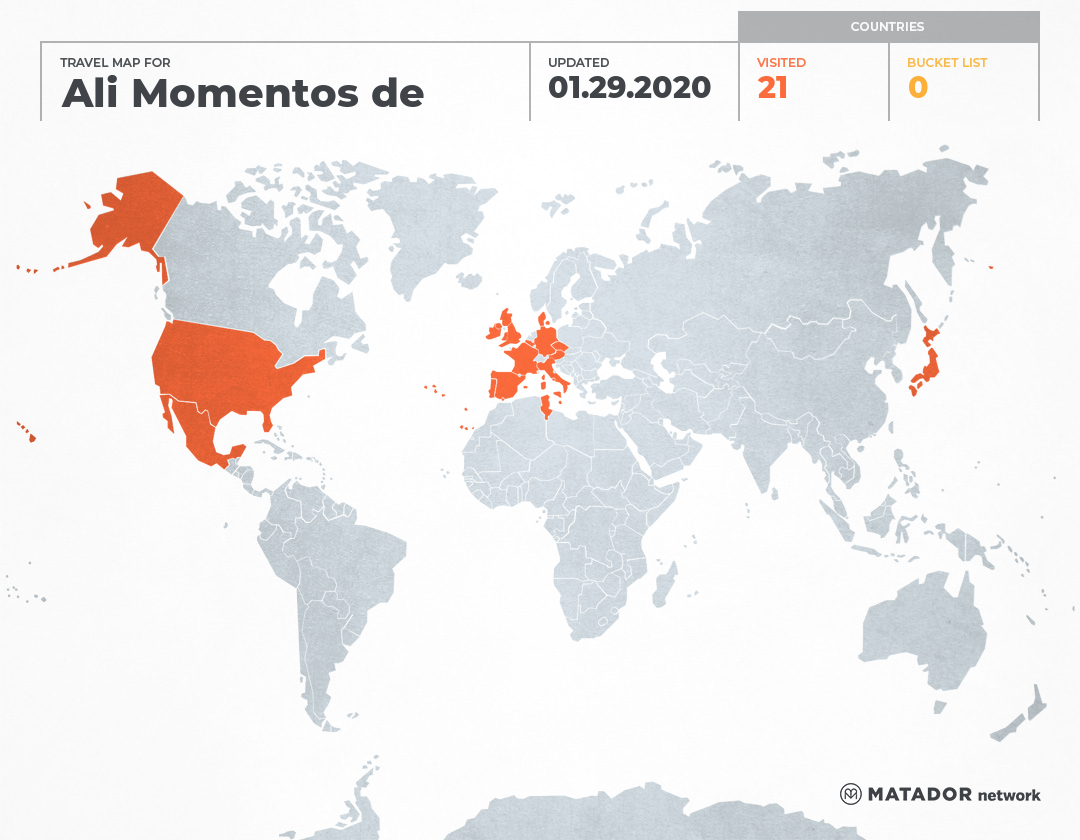 El mapamundi de Ali Momentos de Evasion