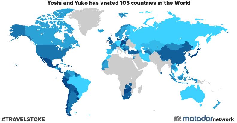 Yoshi and Yuko's Travel Map