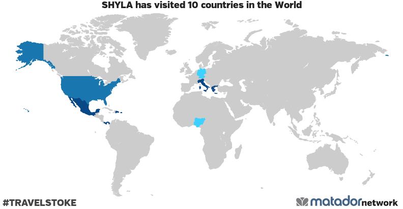 SHYLA's Travel Map