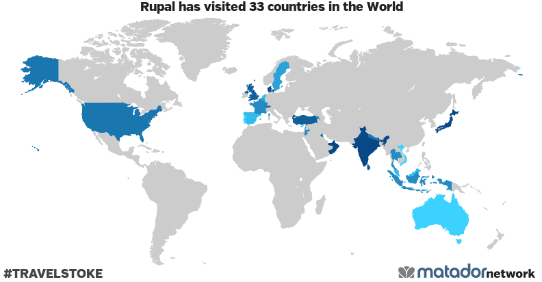 Rupal's Travel Map