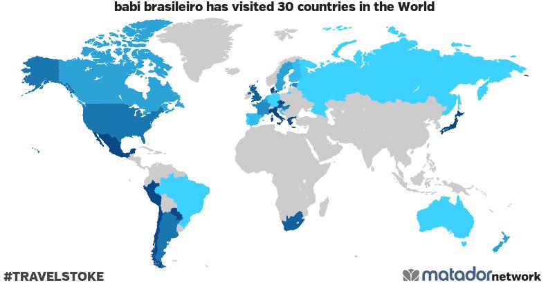 babi brasileiro's Travel Map