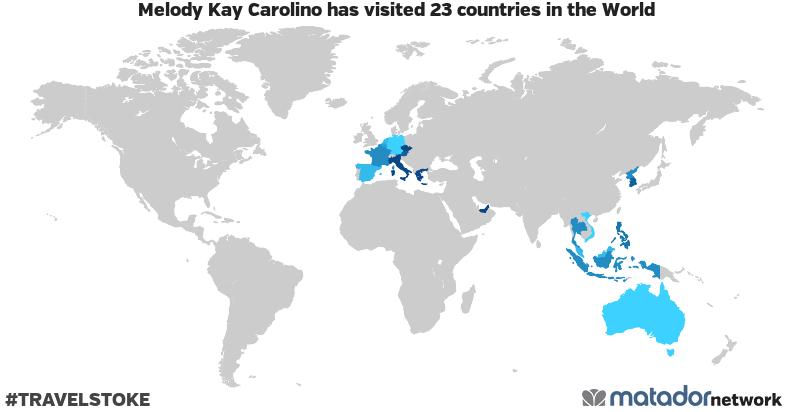 Melody Kay Carolino's Travel Map